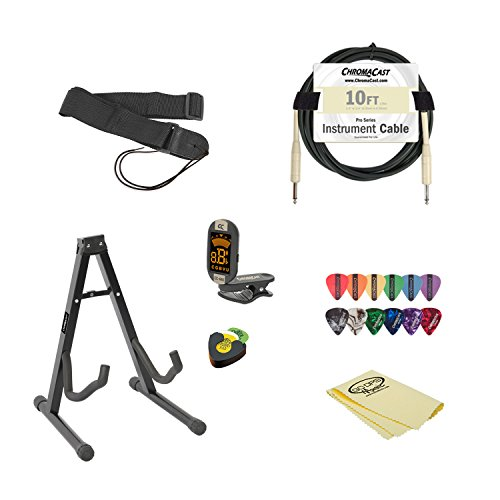 buy acoustic electric guitar accessory pack with gig bag stand strap cable guitar. Black Bedroom Furniture Sets. Home Design Ideas