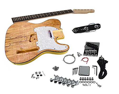 buy solo tck 1sm diy electric guitar kit with spalted maple top at guitar center. Black Bedroom Furniture Sets. Home Design Ideas